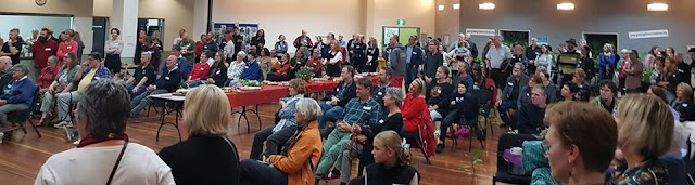 The launch of the Growing Illawarra Natives website. Dapto Ribbonwood Centre, April 2020. Image by Cath Blakey.