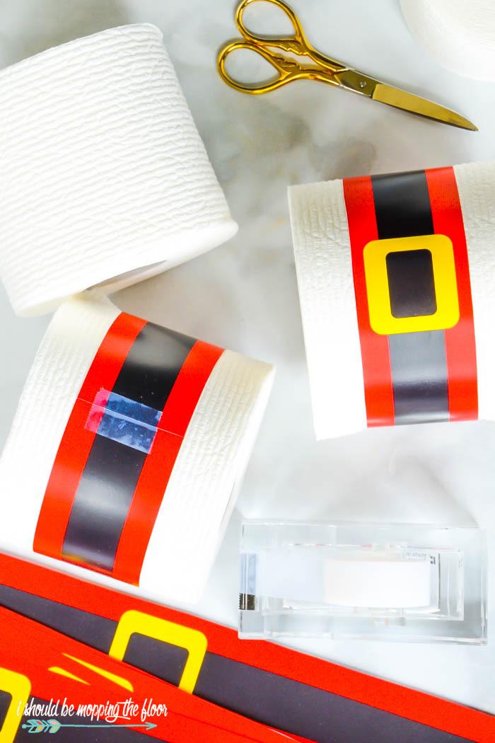 Santa Belt Printables