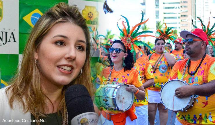 Alcaldesa de ciudad brasileña Granja, Amanda Aldigueri