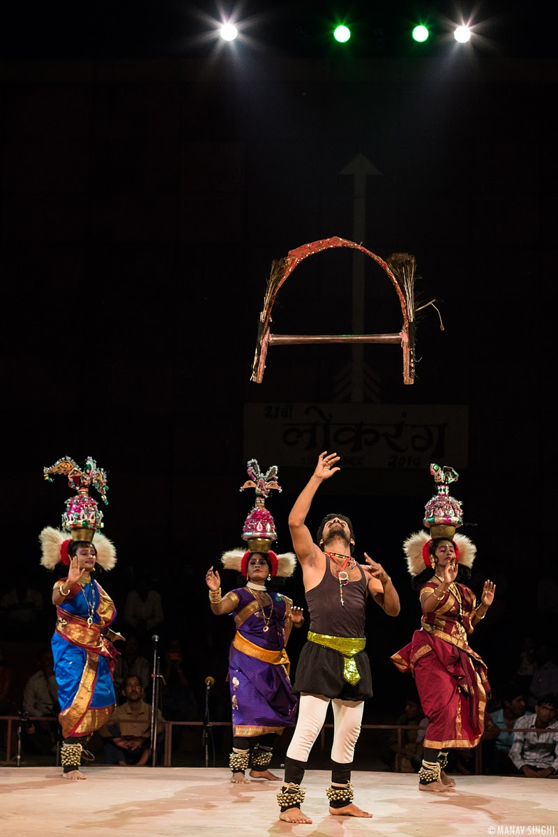 Khadgam Kavadi Folk Dance from Tamil Nadu.