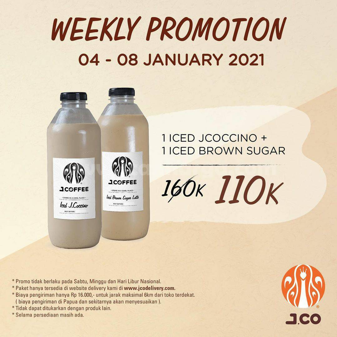 JCO Promo Weekly Promotion – Paket 2 botol JCOFFEE Liter Hanya Rp 110.000