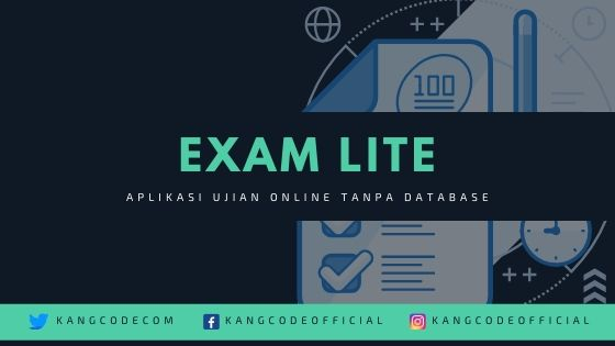 Source Code Aplikasi Ujian Online / Exam Lite Tanpa Database