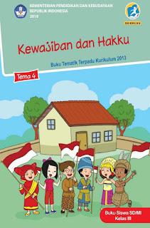 Buku Tematik Terpadu K13 Kelas 3 SD Tema 4 Kewajiban Dan Hakku