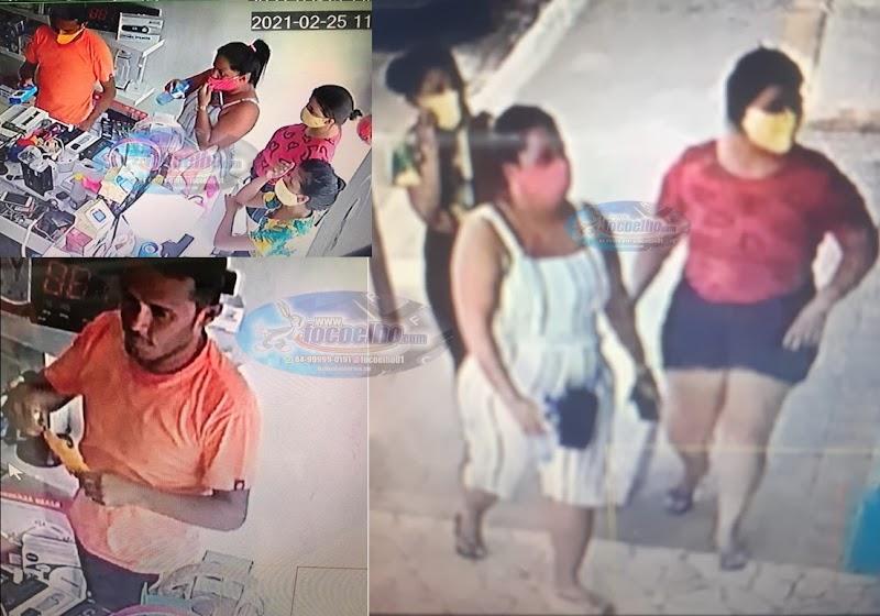 MUITO CUIDADO: Três mulheres e um homem agindo no comércio de Assú (VEJA VÍDEO)