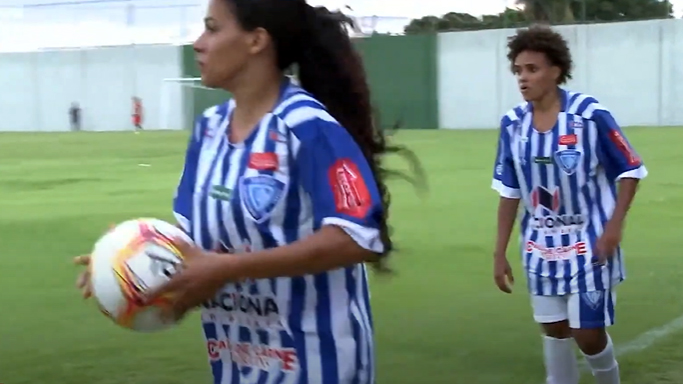 Jogadoras de futebol de campo futebol feminino