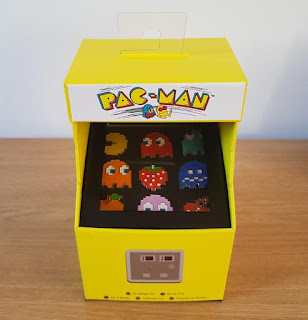 The very nice official Pac-Man pin badge arcade cabinet set