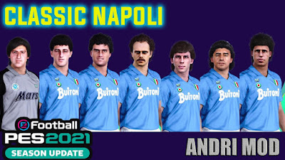 PES 2021 Classic FacePack SSC Napoli by Andri Mod