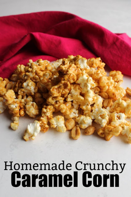 The sweet, buttery, crunchy caramel corn you love can be done in the microwave to make it faster and easier.  It's perfect for a snack and fun for a party!