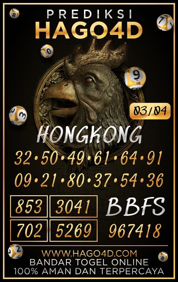Prediksi Hago4D - Rabu, 3 April 2021 - Prediksi Togel Hongkong