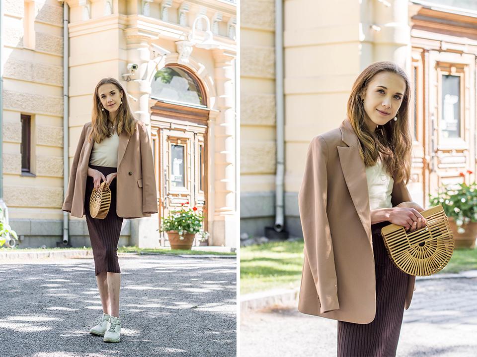 Fashion blogger outfit inspiration, beige tonal summer style - Beige asu, kesämuoti, muotibloggaaja