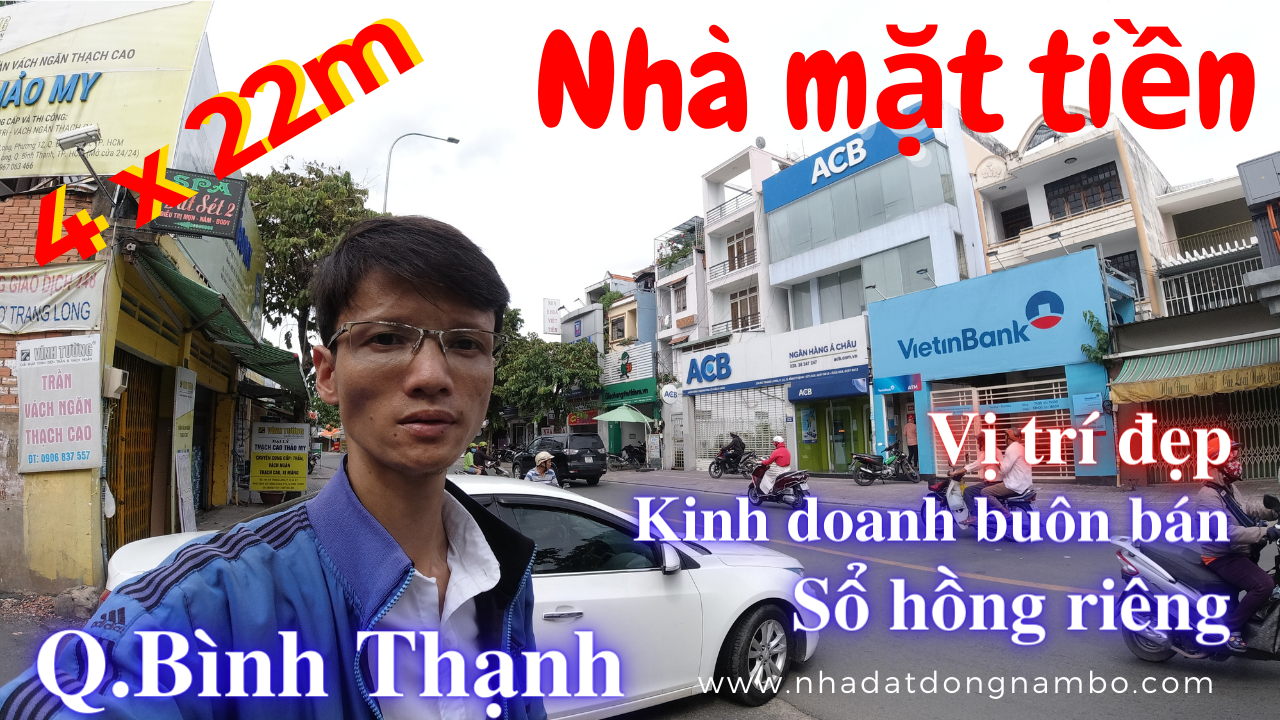 Bán nhà Mặt tiền Nơ Trang Long quận Bình Thạnh giá rẻ 2020