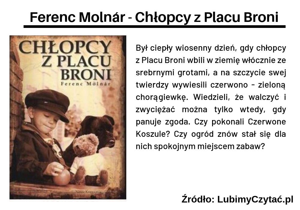 Ferenc Molnár - Chłopcy z Placu Broni, Topki, Marzenie Literackie