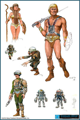 ... one of Ralph McQuarrie's designs for the Masters of the Universe movie