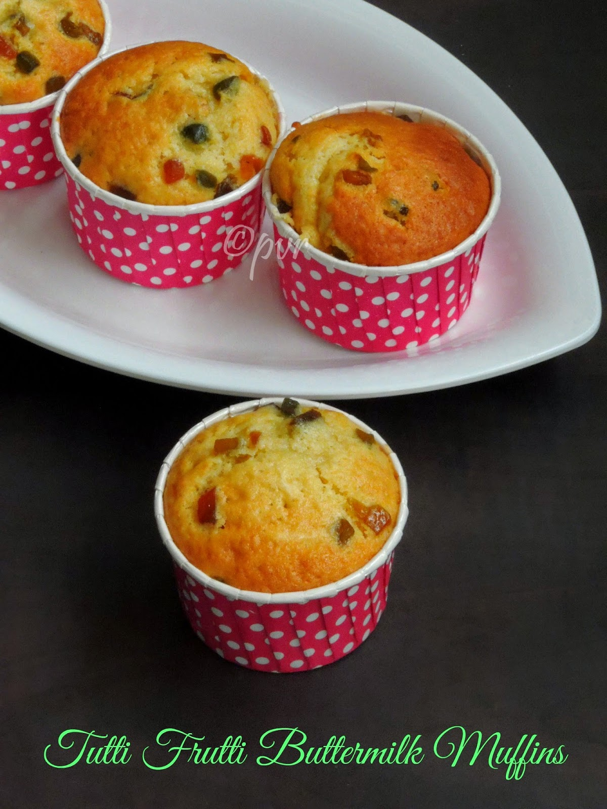 Buttermilk Muffins with Tutti Frutti