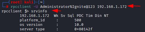 Active Directory Enumeration: RPCClient