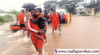 Mumbai (Badlapur Vikas Media): - The administration's diligent efforts are underway to move the residents of the state to a safe haven. So far, the state has been able to relocate 2 lakh 5 thousand 5 persons. Disaster Control Room of the Government, Local Administration Officers, personnel and personnel of State and National Disaster Response Team, Army, Navy, Air Force, Coast Guard are working. Besides, eight naval squadrons of Visakhapatnam were on their way to Shirola (Dist. Kolhapur) with boats, informed the State Disaster Control Cell in the ministry.  Along with the local administration, three teams of National Disaster Management Force are present in Sangli, Kolhapur and Navy 2, Coast Guard 3 in Sangli and 3 in Kolhapur, 3 teams of army force, 3 in Sangli of State Disaster Management Force and 3 in Kolhapur. In addition, two naval teams of Visakhapatnam have reached Shirola (Dist. Kolhapur) with boats.  So far, 3 lakh 5 thousand 5 thousand people have been shifted to Kolhapur and 5 lakh 7 thousand 19 people from Sangli have been shifted to safe places. Assistance is underway in Kolhapur district with 6 boats and in Sangli district with 90 boats.  Disrupted villages and families  In Kolhapur district, the flood-hit villages - 19, affected families - 3 thousand 5 and flood-hit villages in Sangli district - 1 and family population - 3 thousand 3. Rescue work is underway in all these villages along with the administration squad and all other disaster prevention forces.  Due to the state government's immediate contact with the central government regarding the flood situation, troopers of the Army and Coast Guard have been working. The Disaster Control Cell of the Relief and Rehabilitation Department is functioning for two hours and the situation is being monitored from time to time in Sangli and Kolhapur districts. It is also in touch with the Central Government for assistance, the administration said.  Other affected villages in the state -  Satara - 9 Villages (
