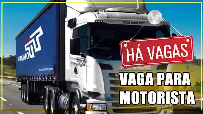 Grupo Toniato está contratando motorista