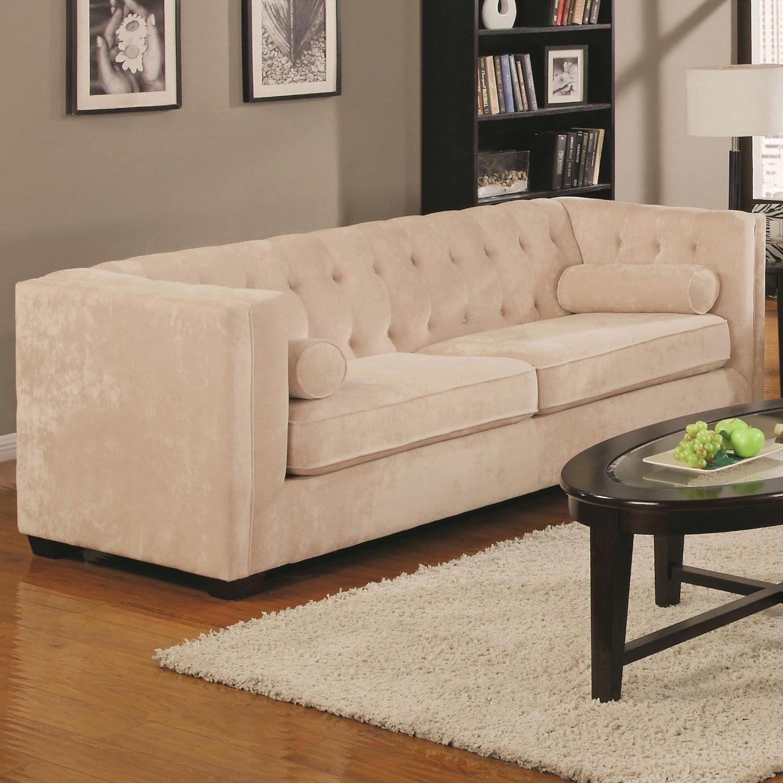 Alexis Velvet Tufted Couch