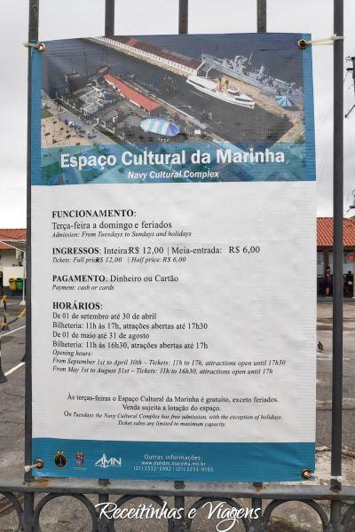 Passeio com criancas no Rio de Janeiro: Espaço Cultural da Marinha