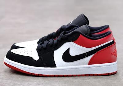 Harga Sepatu Nike Air Jordan 1 Low Black Toe Original Indonesia