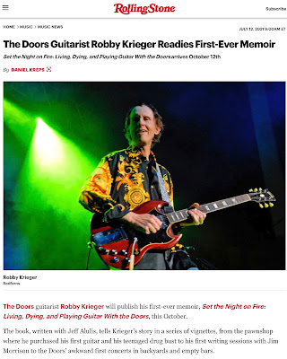 Rolling Stone article about Robby Krieger's book