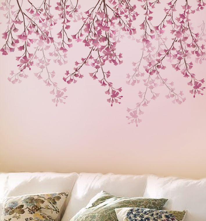 Cherry Blossom Flower Stencil: Decorating Addiction: One Year Giveaway And Nursery Progress