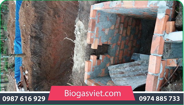 xây hầm bioags bằng gạch
