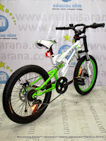 20 Inch Pacifc Viper Full Suspension Junior Mountain Bike White Green