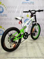 20 Inch Pacifc Viper Full Suspension Junior Mountain Bike White Green