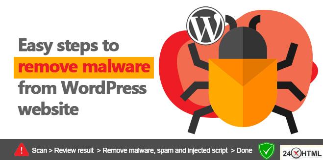 Remove malware from WordPress