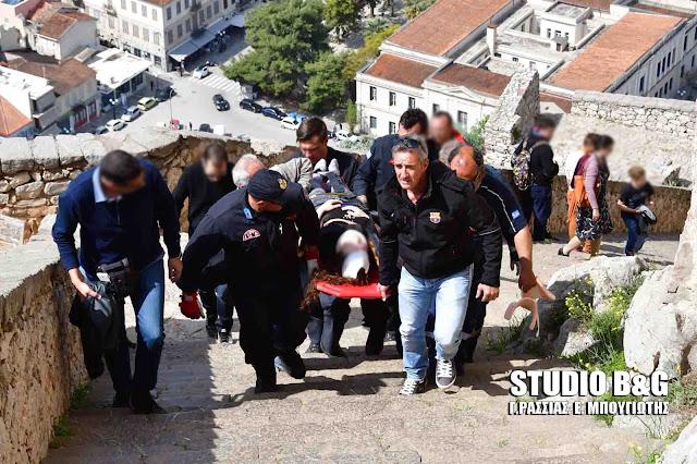 Ναύπλιο: Τραυματισμός μαθήτριας από πτώση στο Παλαμήδι  (βίντεο)