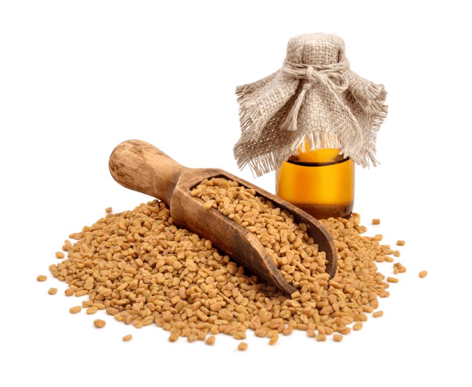 Pó de sementes de feno-grego, sementes de carambola e sementes de cominho preto