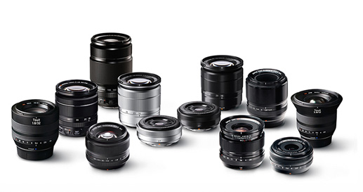 the array of lenses available for Fujifilm X-system