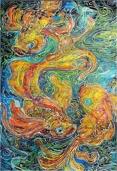 Eye Of The Beholder...: Design: Batik Art