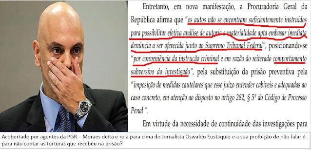 Ministro do STF manda lacrar boca de jornalista - Proibido de receber visitas ou conceder entrevistas.