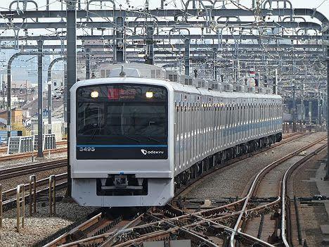 【ダイヤ改正で新設!】小田急電鉄 快速急行 唐木田行き3 3000形フルカラーLED