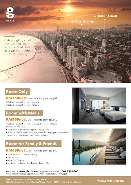 Room Booking Deals atG Hotel Gurney & Kelawai Penang
