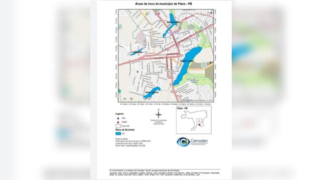 Patos teve alerta de possível inundação na noite de ontem 09/03. Precipitação desviou e não atingiu a cidade