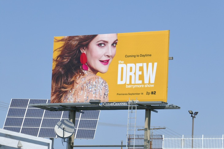 Drew Barrymore Show launch billboard
