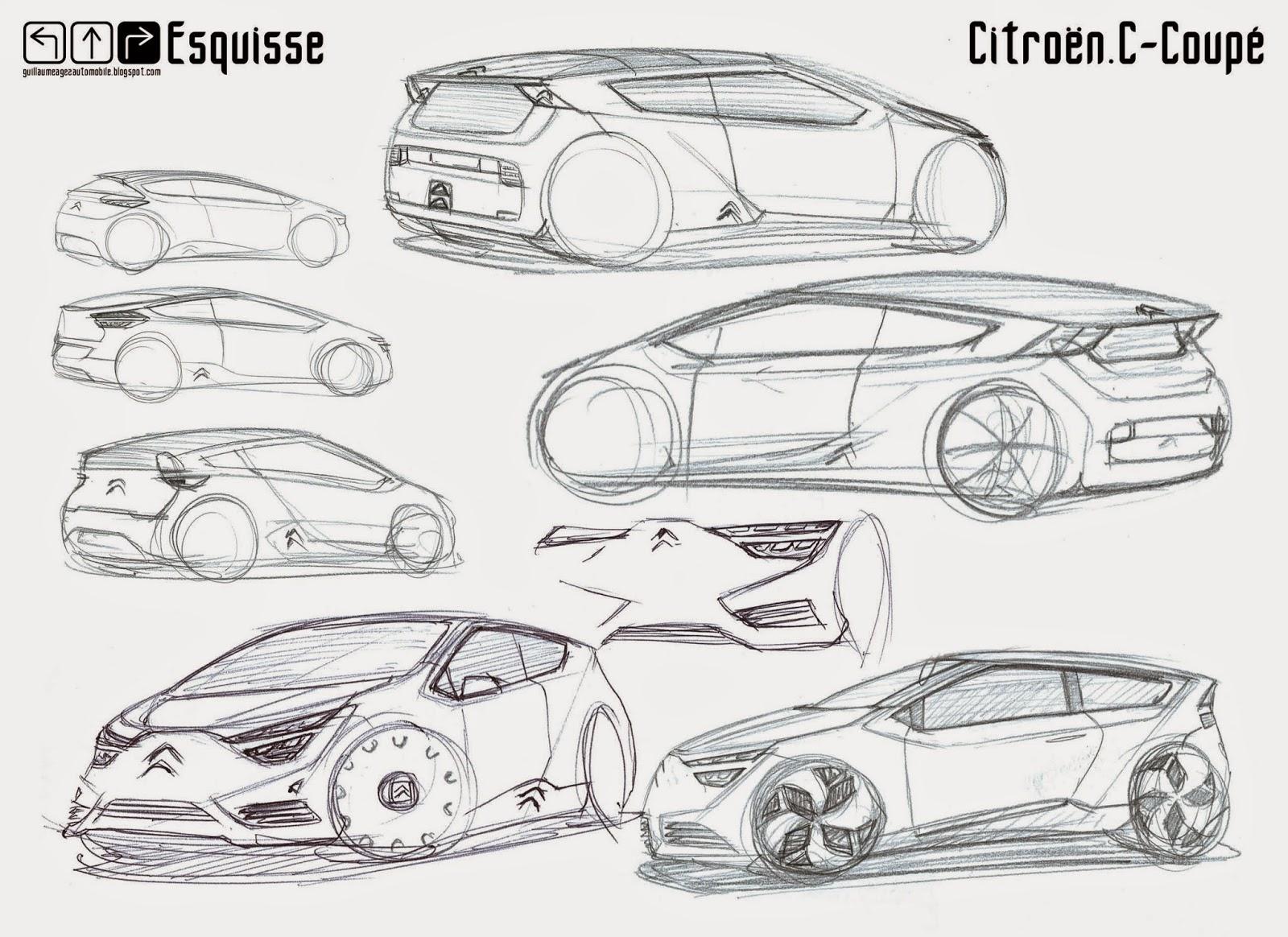 Guillaume AGEZ Automobile: Esquisse : Citroën C-Coupé