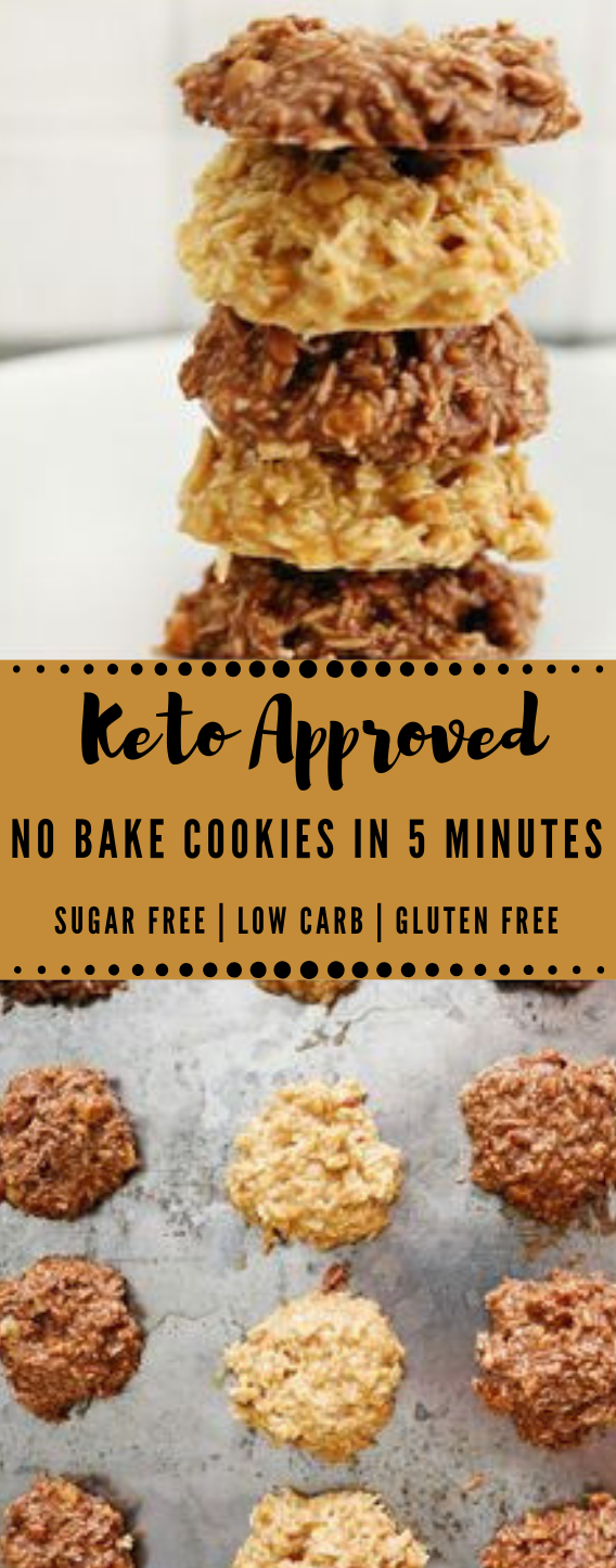 KETO NO BAKE COOKIES IN 5 MINUTES #keto #dessert #cookies #cakes #bars