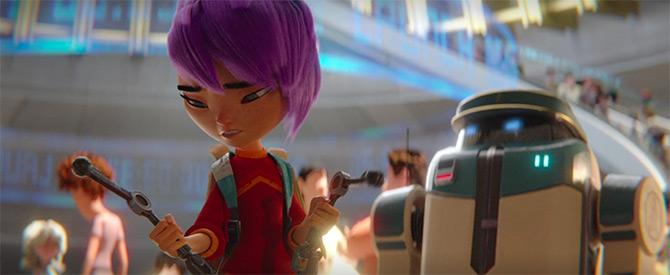 Pertuntukan robot anak