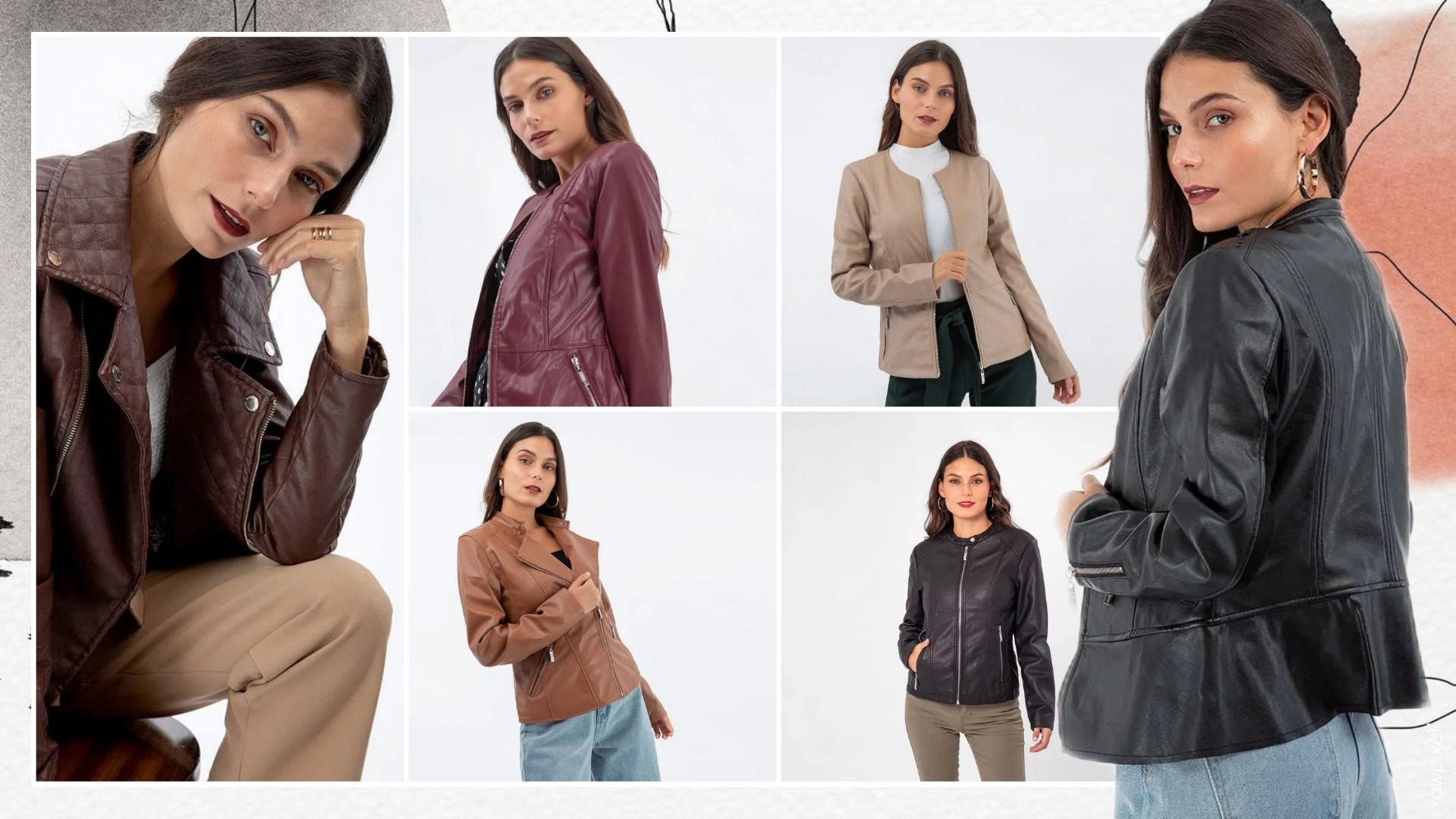Cómo combinar casacas para mujer de cuerina