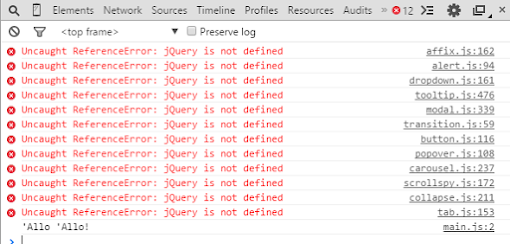 Fixing ReferenceError: $ is not defined in jQuery - Solution and Tips