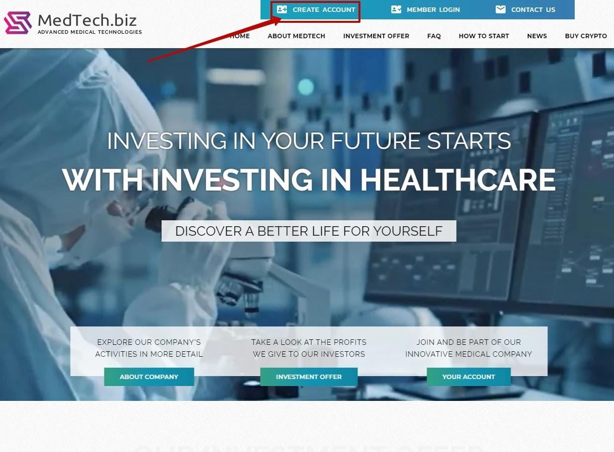 Регистрация в MedTech