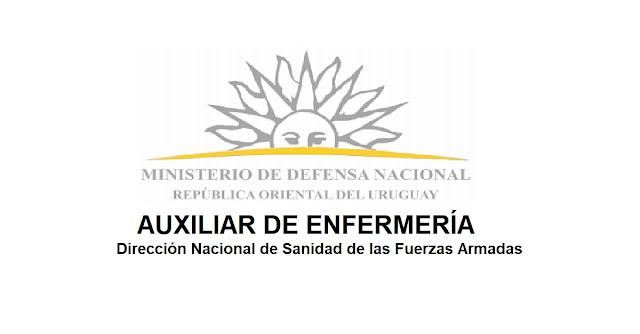 AUXILIAR DE ENFERMERÍA - Ministerio de Defensa Nacional - Dirección Nacional de Sanidad de las Fuerzas Armadas