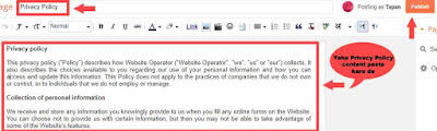 blog or website ke liye privacy policy page kaise banaye