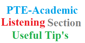 PTE Academic test Useful Listening tips for Exam Practice