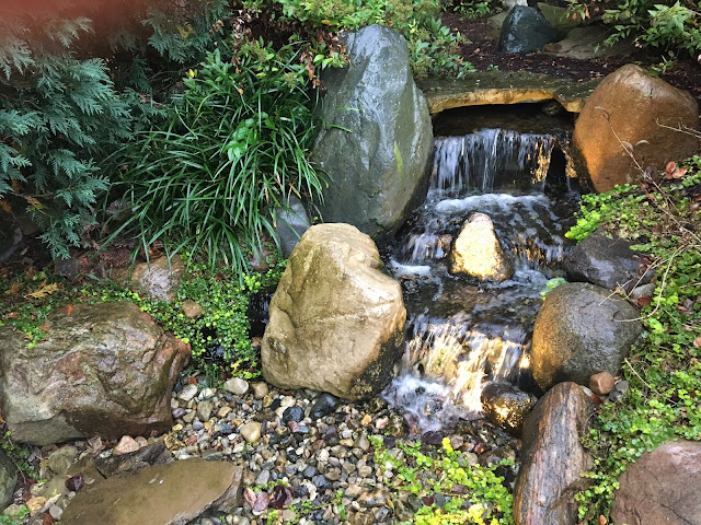 well maintained pond-free pondless waterfall