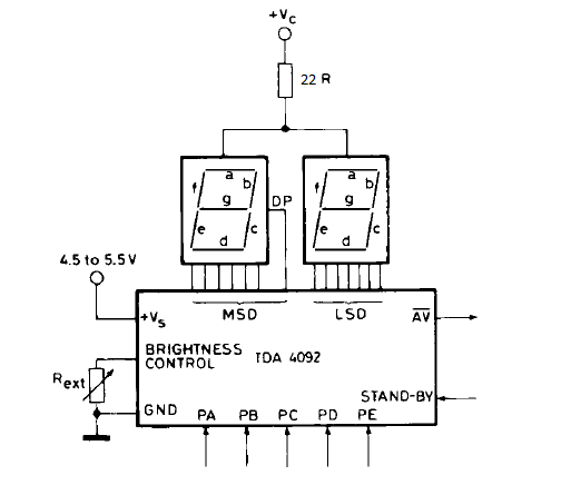 Decoder Circuit Seven Segment 5 Bit Simple Schematic Diagram